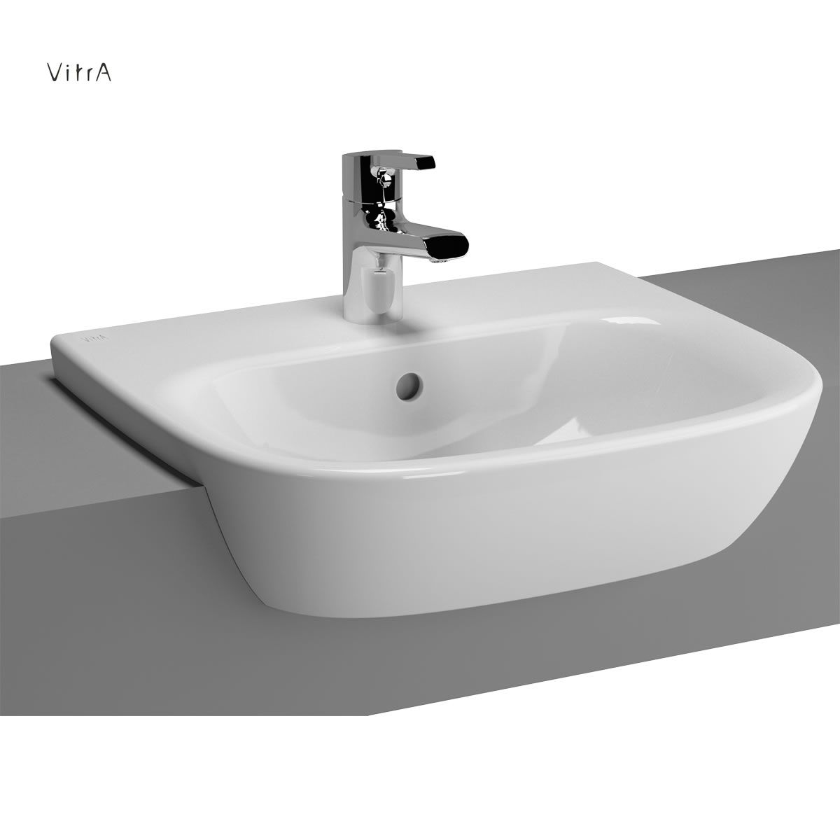 Vitra Zentrum Semi Recessed Washbasin