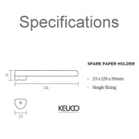 Keuco Moll Spare Paper Holder