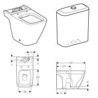 Geberit Icon Square Close Coupled Toilet