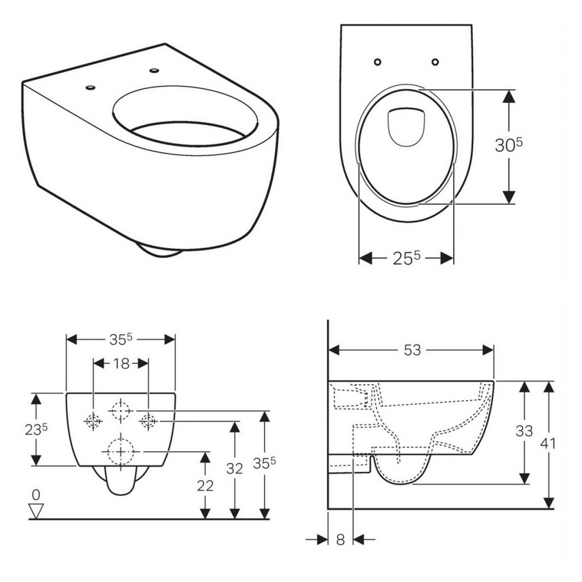 Geberit Icon Wall Hung Toilet Bathrooms Direct Yorkshire