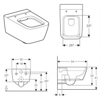 Geberit Icon Square Wall Hung Toilet Rimfree