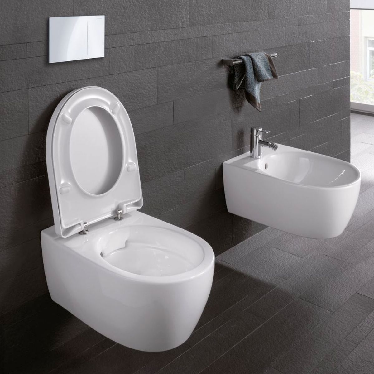 geberit icon wall mounted toilet rimfree bathrooms. Black Bedroom Furniture Sets. Home Design Ideas