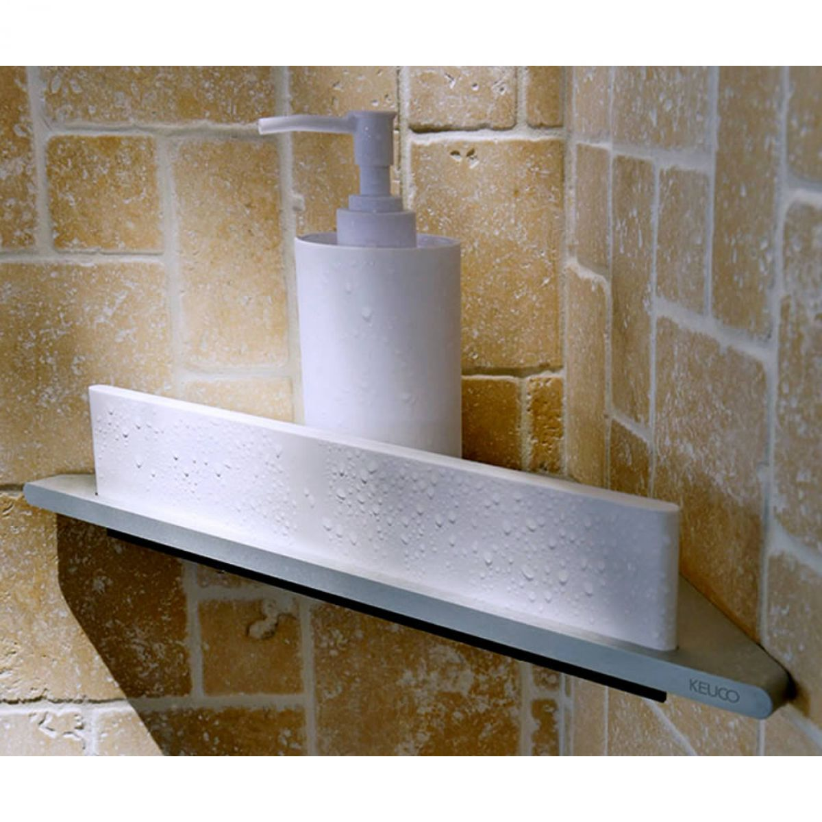 Keuco Edition 400 Corner Shower Shelf With Wiper