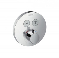 Hansgrohe ShowerSelect Thermostatic Mixer 2 Outlet (Round)