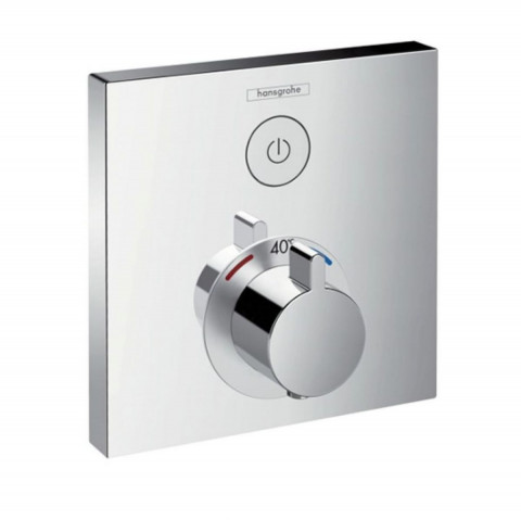 Hansgrohe ShowerSelect Thermostatic Mixer 1 Outlet (Square)
