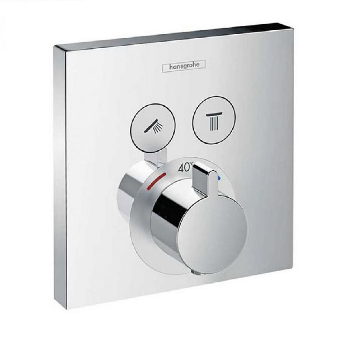 Hansgrohe Showerselect Thermostatic Mixer 2 Outlet Square