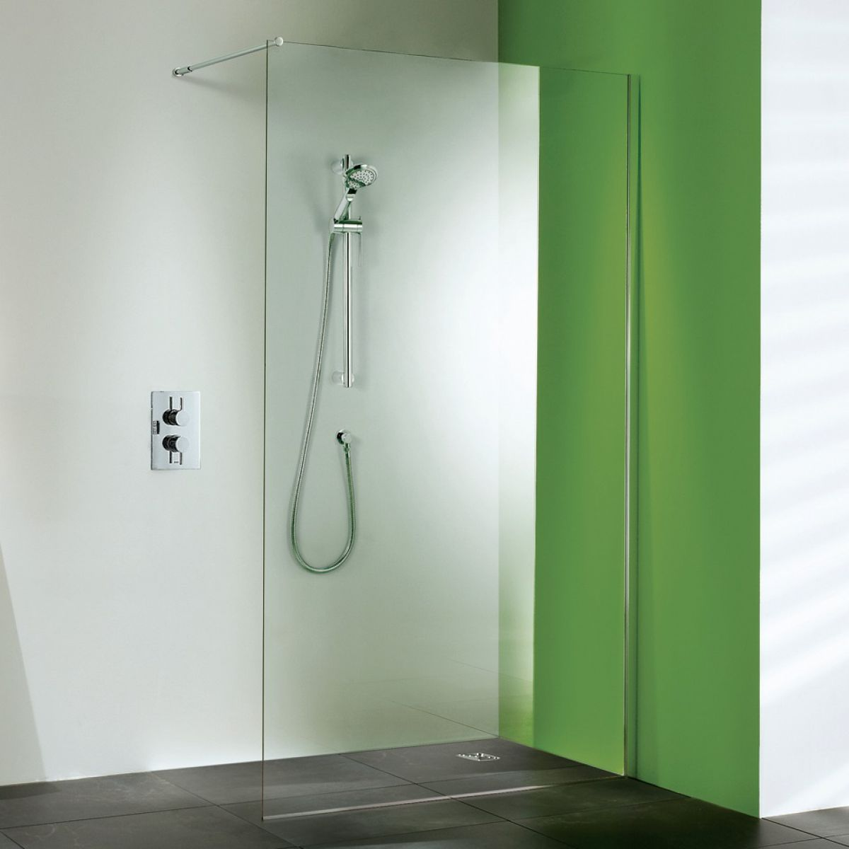 Matki Straight Wet Room Panel