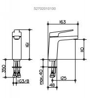Keuco Moll Single Lever Basin Mixer 110