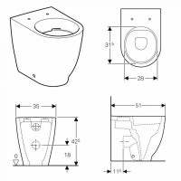 Geberit Acanto Back To Wall Toilet Rimfree