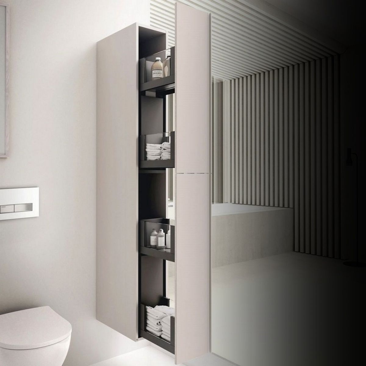 Geberit Acanto Tall Cabinet With Two Cargos Bathrooms
