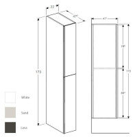 Geberit Acanto Tall Cabinet With Two Cargos