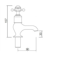 Crosswater Belgravia Bath Pillar Taps