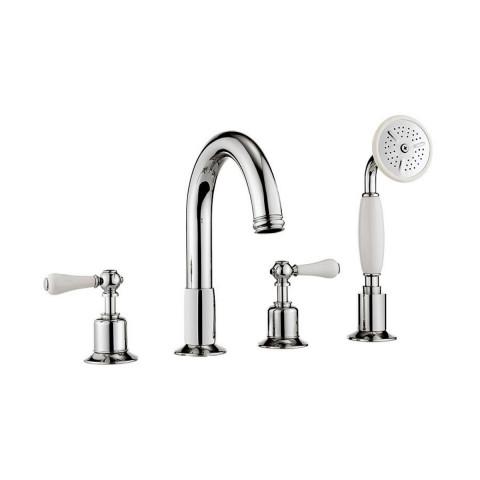 Crosswater Belgravia 4 Hole Bath Mixer Tap With Shower Set