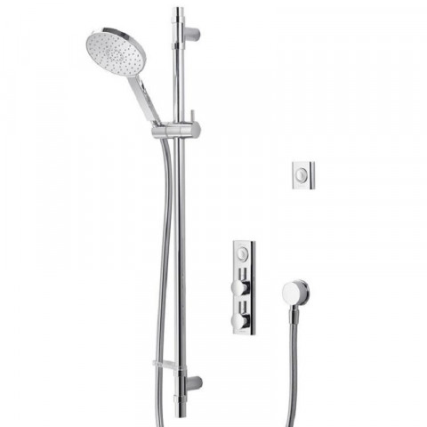 Aqualisa HiQu Concealed Smart Digital Shower with Slide Rail & Round Shower Head