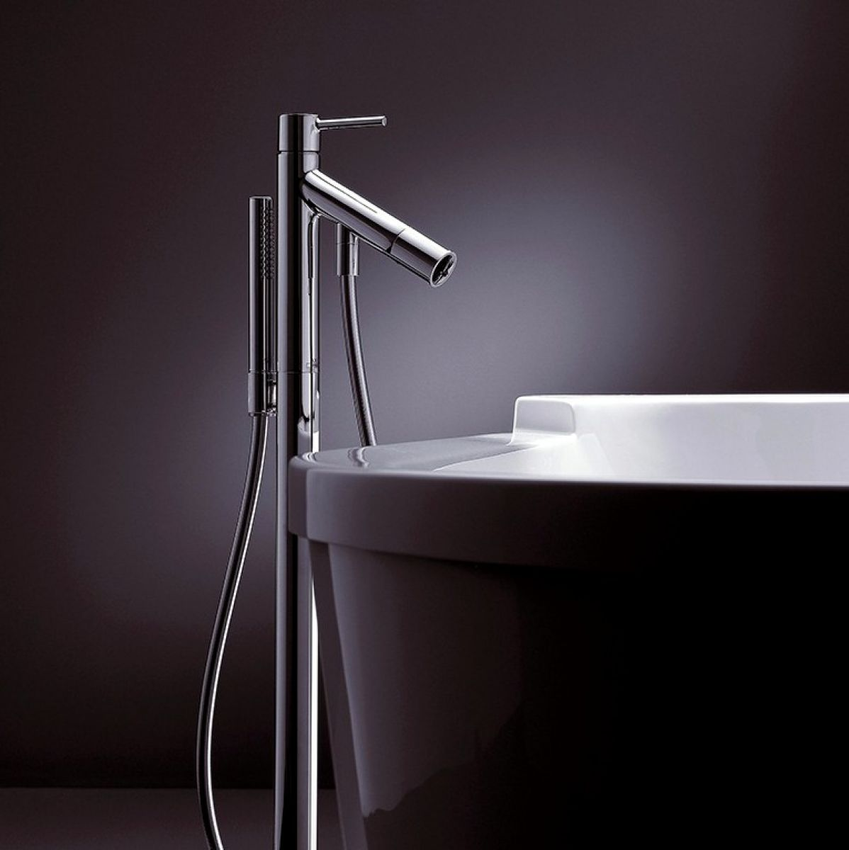 Axor Starck Floor Standing Bath Shower Mixer Set