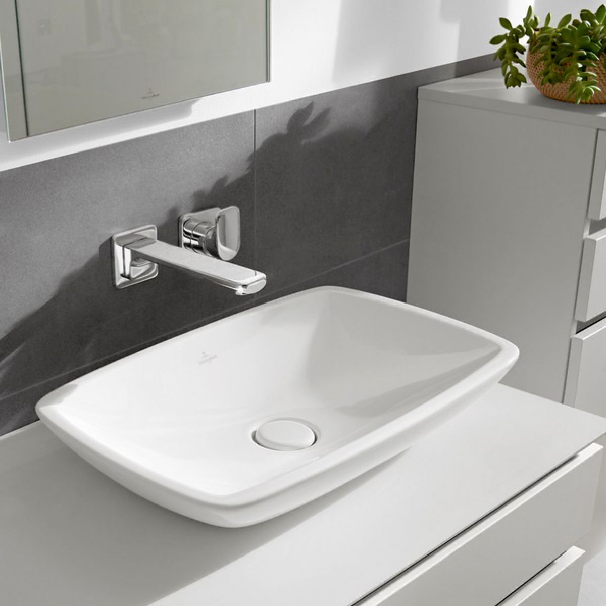 Villeroy & Boch Loop & Friends Rectangle Surface Mounted Basin