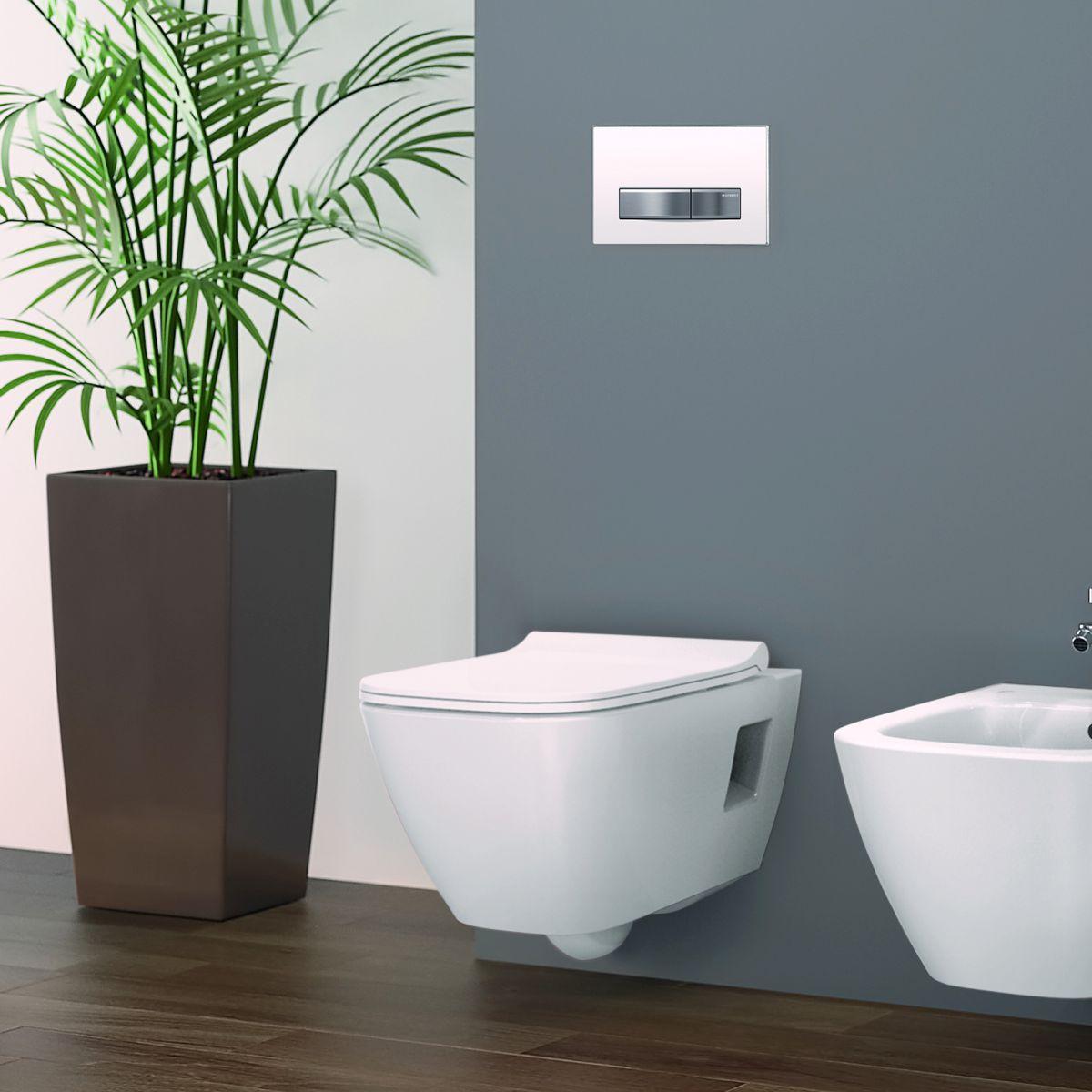 Geberit Smyle Square Wall Hung Toilet Rimfree Bathrooms