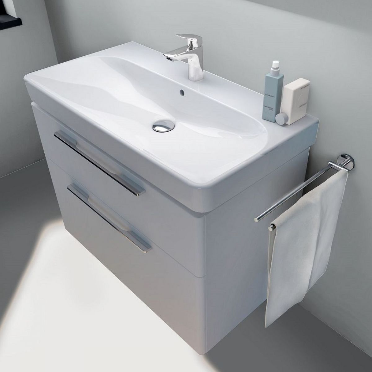 Geberit Smyle Vanity Unit With 2 Drawers Bathrooms