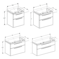 Geberit Smyle Vanity Unit With 2 Drawers