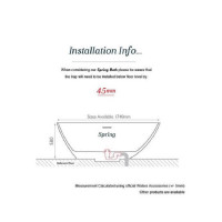 Waters I-Line Spring 1740mm Freestanding Bath