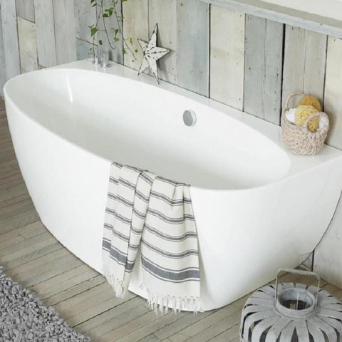 Waters Natura Cove 1700mm Back To Wall Bath