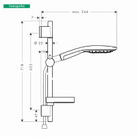 Hansgrohe Raindance Select S 150 Unica S Puro Shower Set