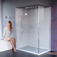 Matki New Illusion Hinged Door Shower Enclosure With Integrated Tray