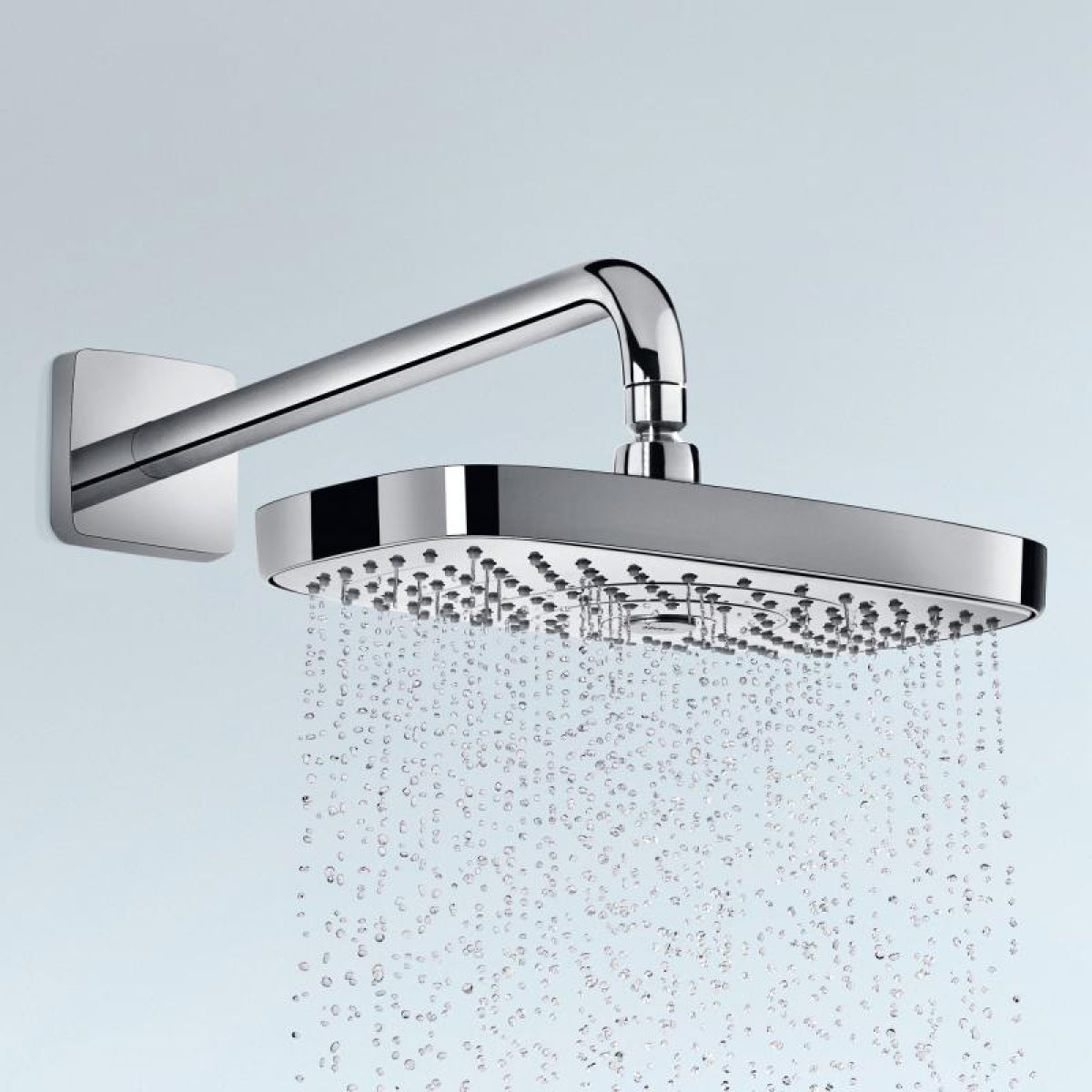 Hansgrohe Select E 300 2 Jet Overhead Shower & Arm Wall Mounted