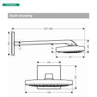 Hansgrohe Raindance Select E 300 3 Jet Overhead Shower