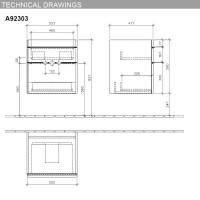 Villeroy & Boch Venticello 2 Drawer Vanity Unit