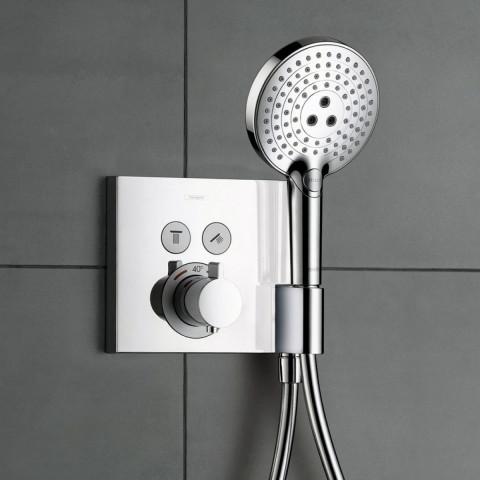 Hansgrohe ShowerSelect 2 Outlet Thermostatic Mixer With Shower Support
