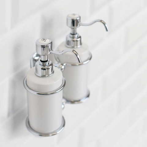 Burlington Double Liquid Soap Dispenser Wall Mounted