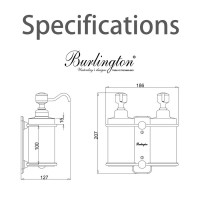 Burlington Double Liquid Soap Dispenser Wall Mounted