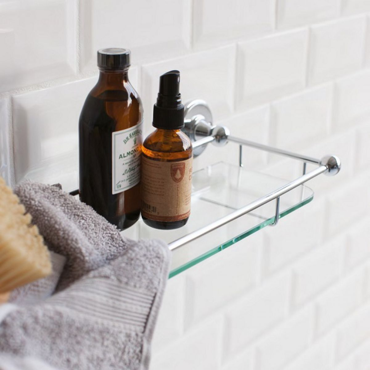 Burlington Glass Shelf With Chrome Railing
