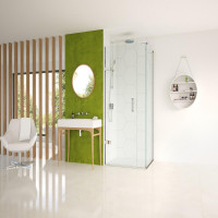 Matki Eauzone Plus Hinged Door From Wall & Inline Panel For Corner (EPWC)