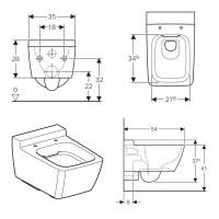 Geberit Xeno2 Wall Hung Toilet Rimfree