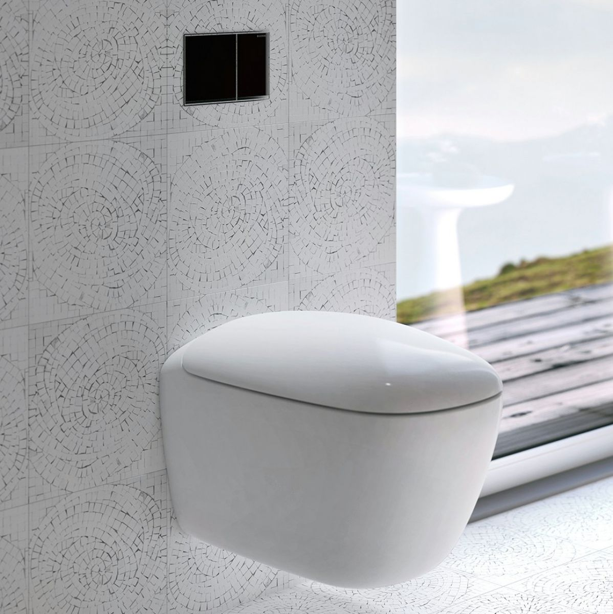 Geberit citterio wall hung toilet rimfree bathrooms for Gerberit toilet