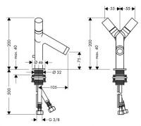 AXOR Starck 2 Handle Basin Mixer