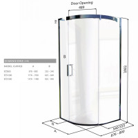 Matki Eauzone Plus Curved Corner Shower Enclosure (ECS)