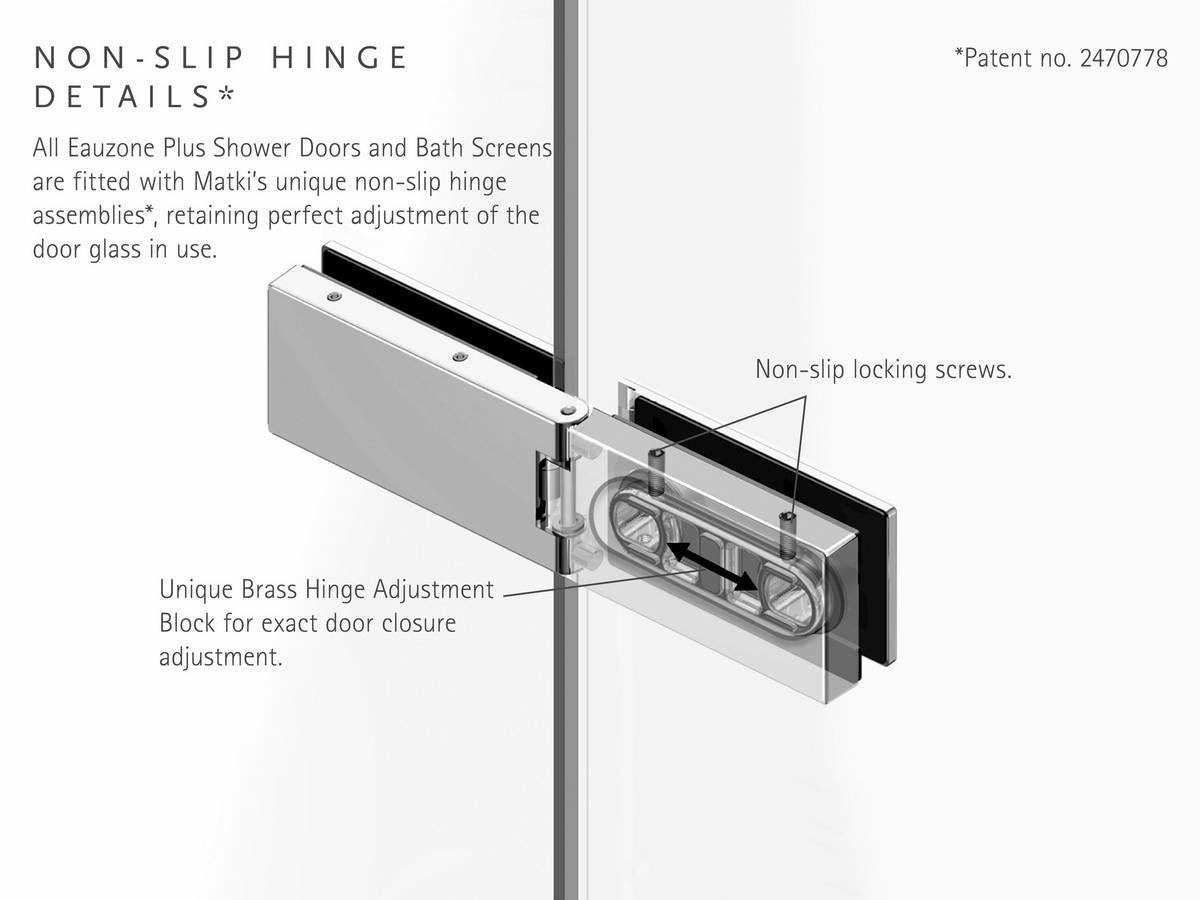 Matki Eauzone Plus Hinged Door With Hinge Panel For Recess
