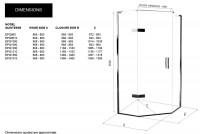 Matki Eauzone Plus Quintesse Design Enclosure With Hinged Door (EPQ)