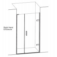 Matki Eauzone Plus Hinged Door From Wall & Inline Panel For Recess (EPW)