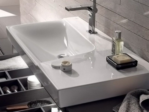 Geberit Xeno2 Offset 900mm Washbasin With Shelf Surface