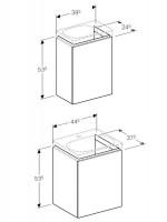 Geberit Acanto Vanity Unit For Handrinse Basin 1 Door