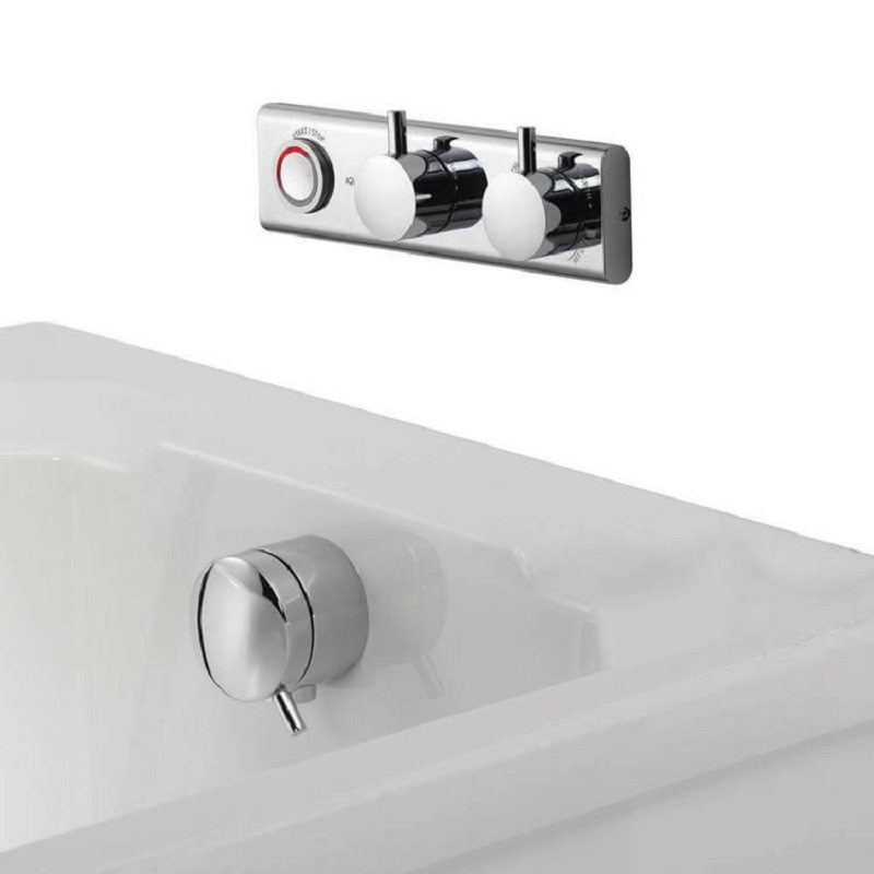 Aqualisa HiQu Smart Digital Bath Valve with Overflow Bath Filler