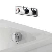 Aqualisa HiQu Smart Digital Bath Valve with Overflow Bath Filler