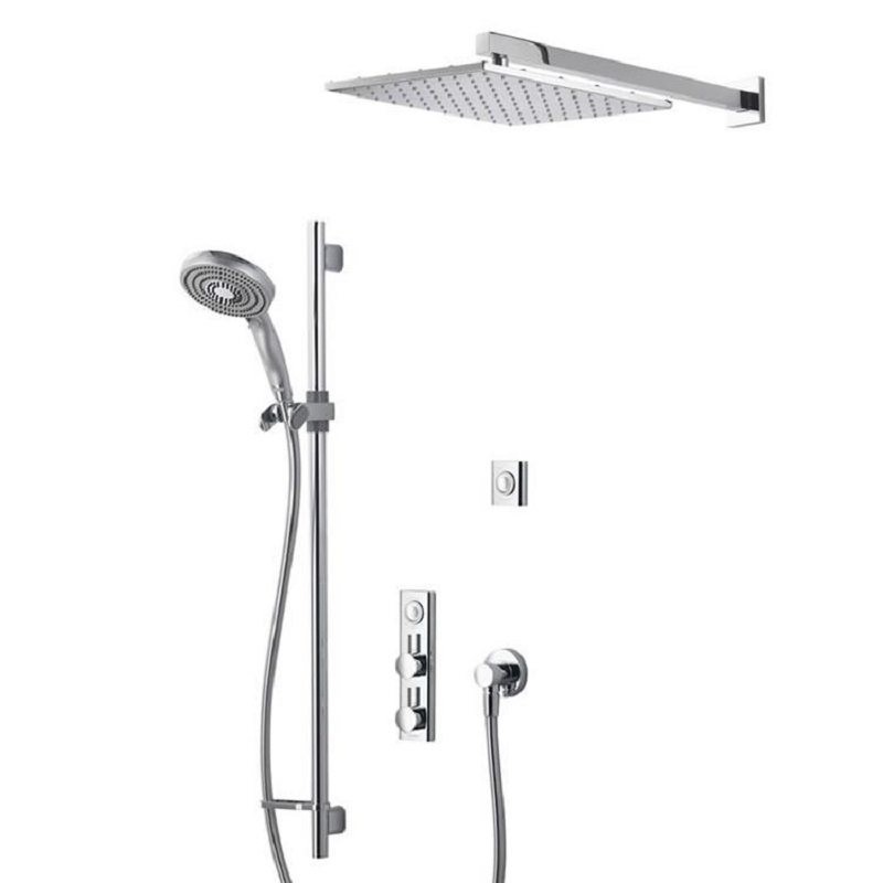 Aqualisa HiQu Dual Outlet Smart Digital Shower with 300mm Square Head & Slider Rail
