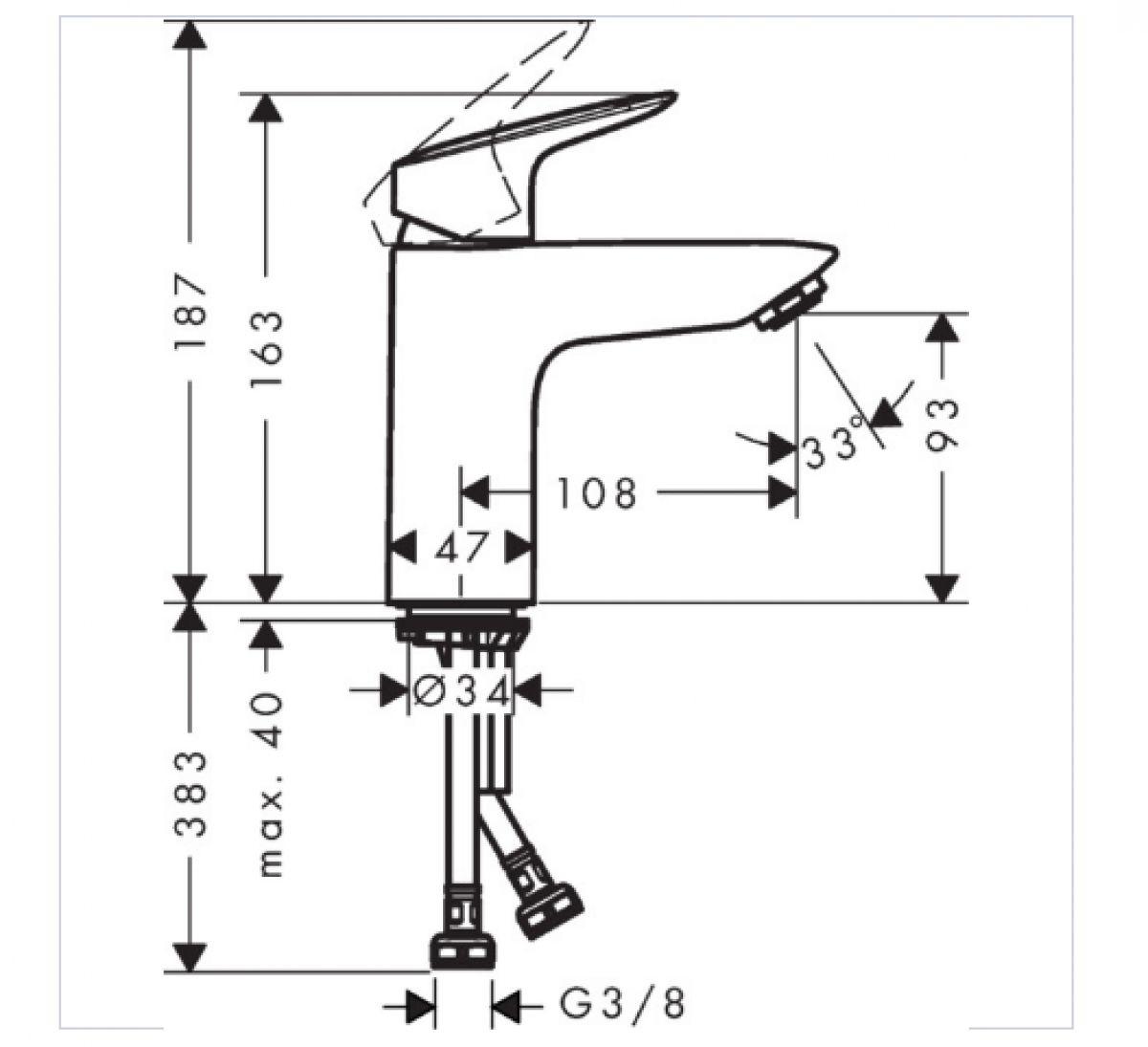 Bekannt Hansgrohe Logis 100 Basin Mixer | Bathrooms Direct Yorkshire ZV61