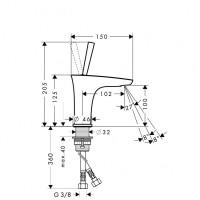 Hansgrohe PuraVida Basin Mixer 110