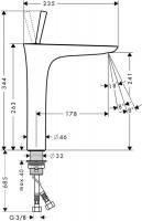 Hansgrohe PuraVida Tall Basin Mixer 240